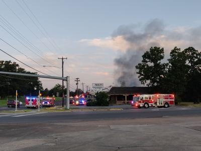 Ward's Restaurant catches fire