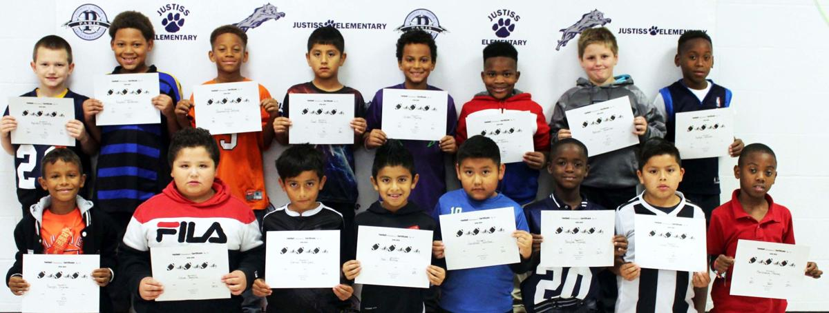 Justiss P.E. Students Recognized for Football Skills
