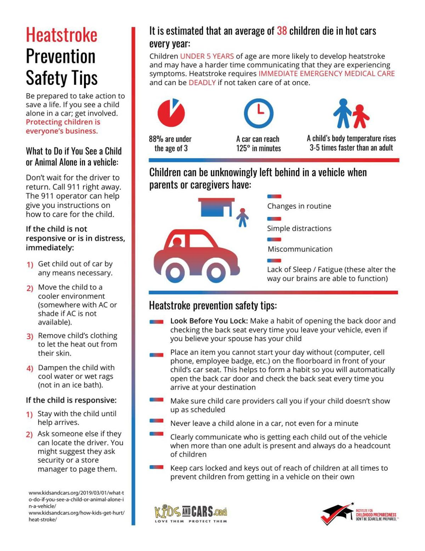 Heat stroke prevention safety tips