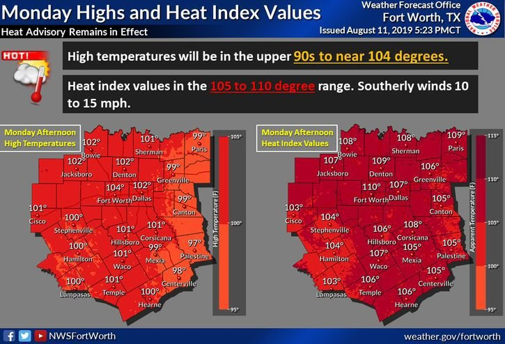 Monday Forecast and Heat Indices.jpg