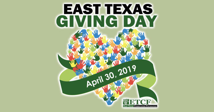 East Texas Giving Day sign