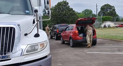 North Texas Food Bank, Texas National Guard shares with Lamar County