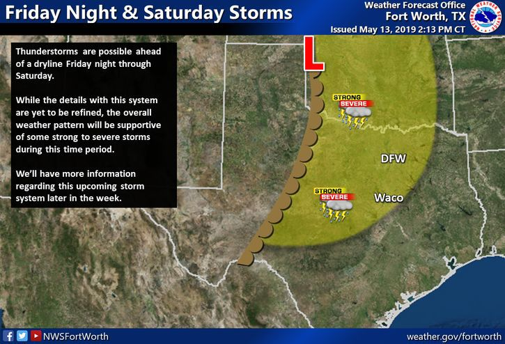 Forecast for Tuesday, May 14: Potentially strong storms loom