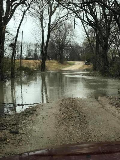Washed out road