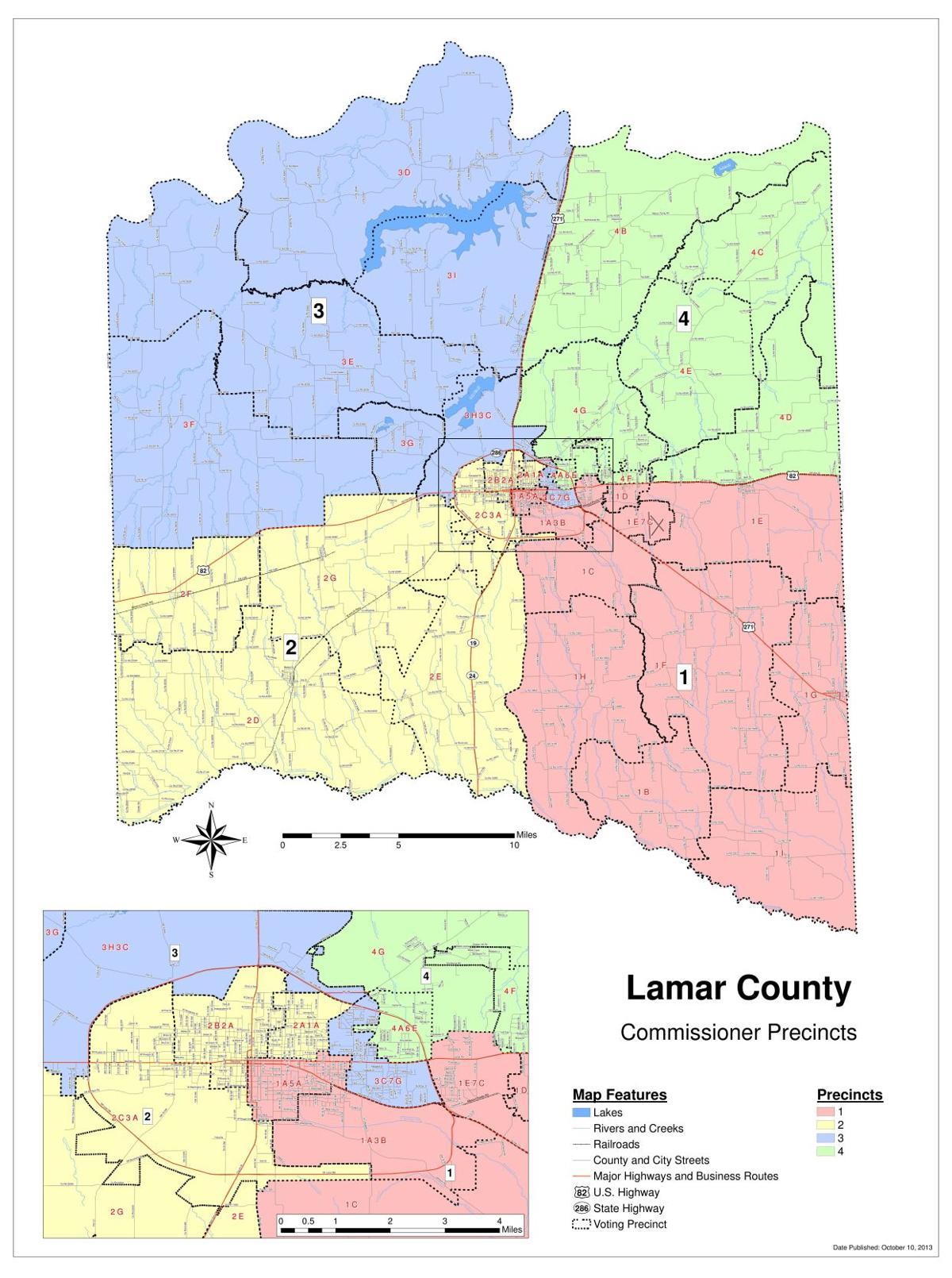 Texas Precincts Map Lamar County Precinct Map | | theparisnews.com