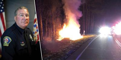 Prince George officer saves woman from burning vehicle minutes before engulfing in flames