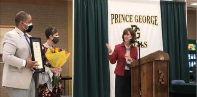 Virginia first lady recognizes PG guidance counselor as 2021 Kindness Ambassador