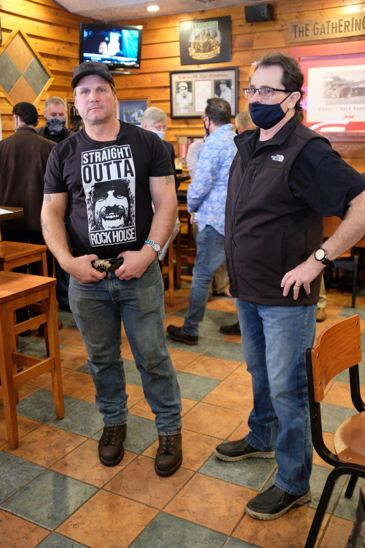 Television star Roland Welker meets fans at Denny's Beer Barrel Pub