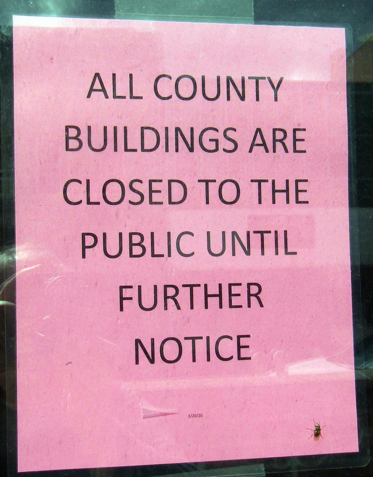 CLEARFIELD COUNTY CLOSED SIGN