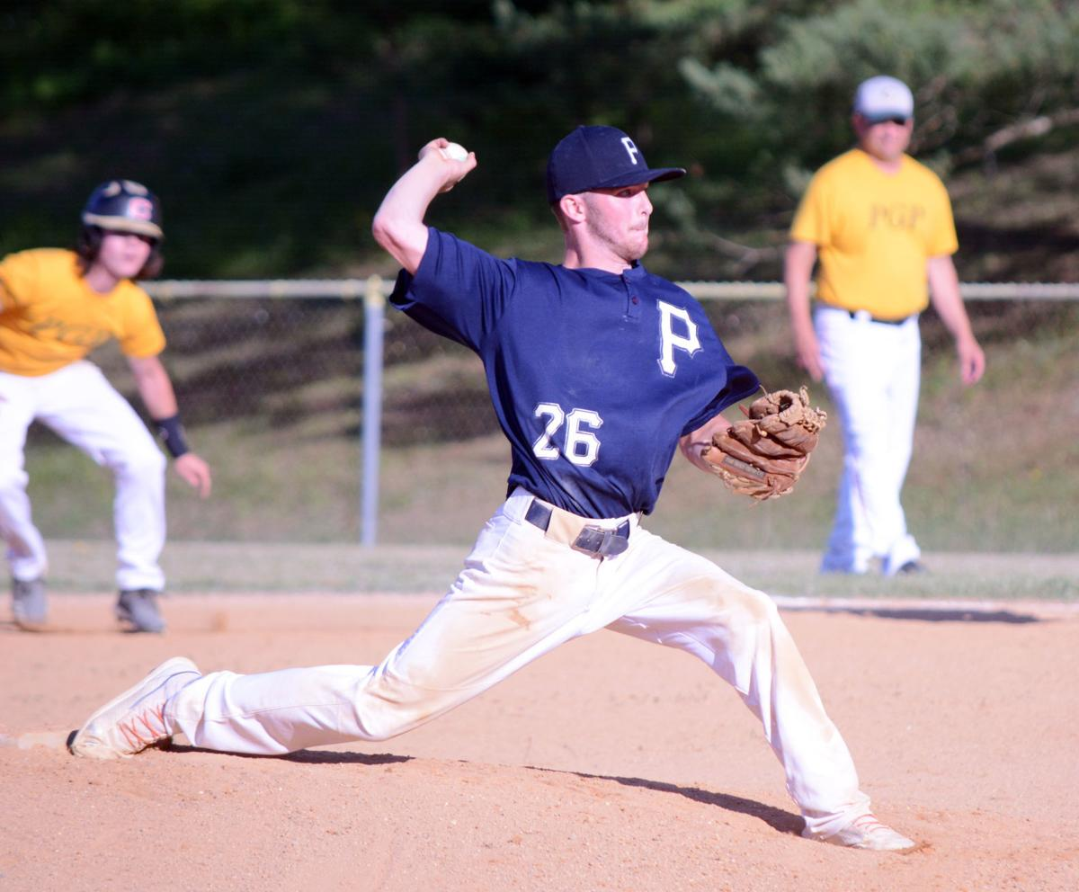 Nick Coudriet pitching