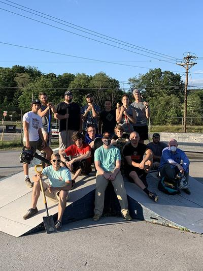 WORK PARTY AT CLEARFIELD SKATE PARK