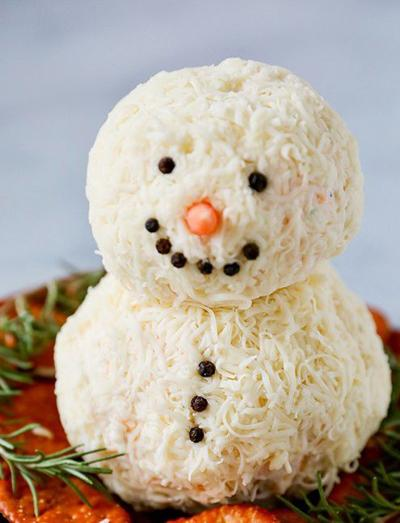 COOKING WITH DIANNE Snowman Cheese Ball