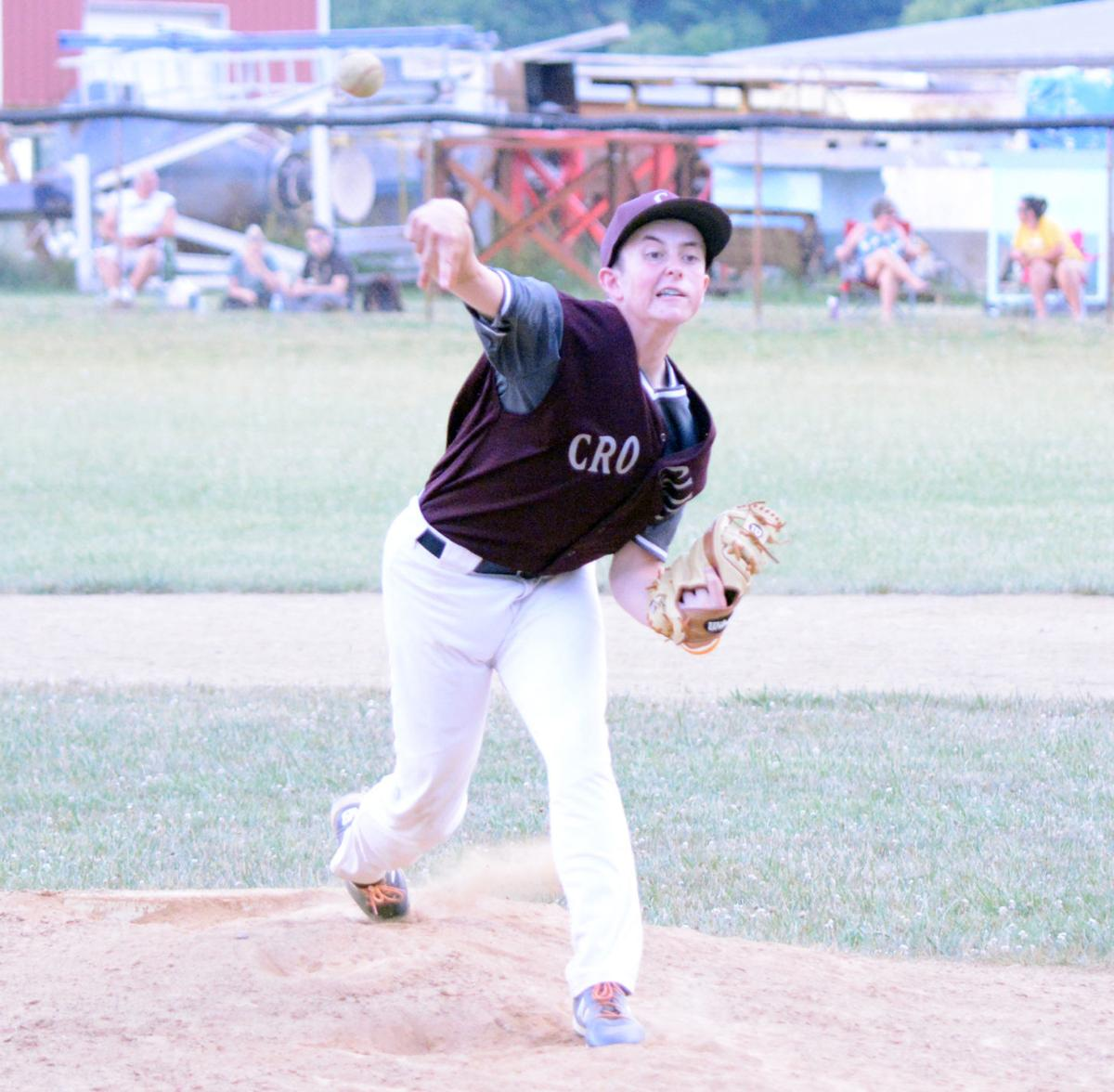 Zach Witherow pitching