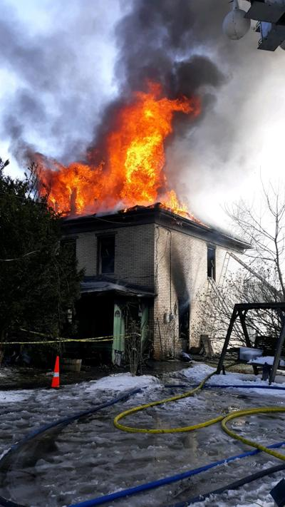 Fire crews battle Morris Township blaze