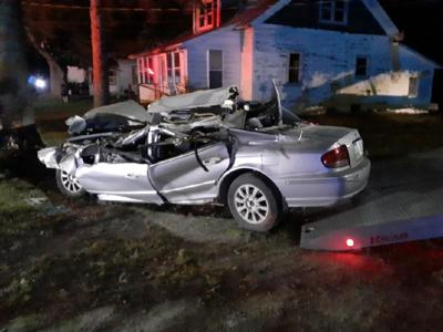 Man crashes car after police chase