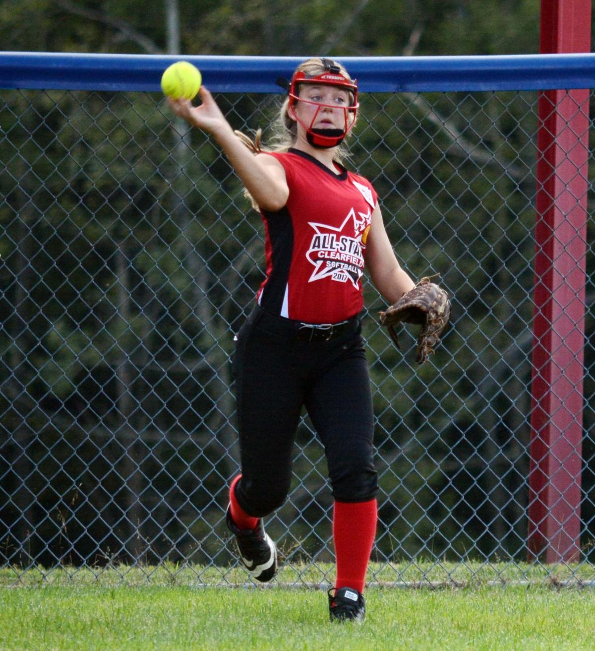 Clearfield Little League Softball Falls To Morrisville In State Circuit Board Baseball Pitching Machine Hitting Machines Morgan Stiles Against