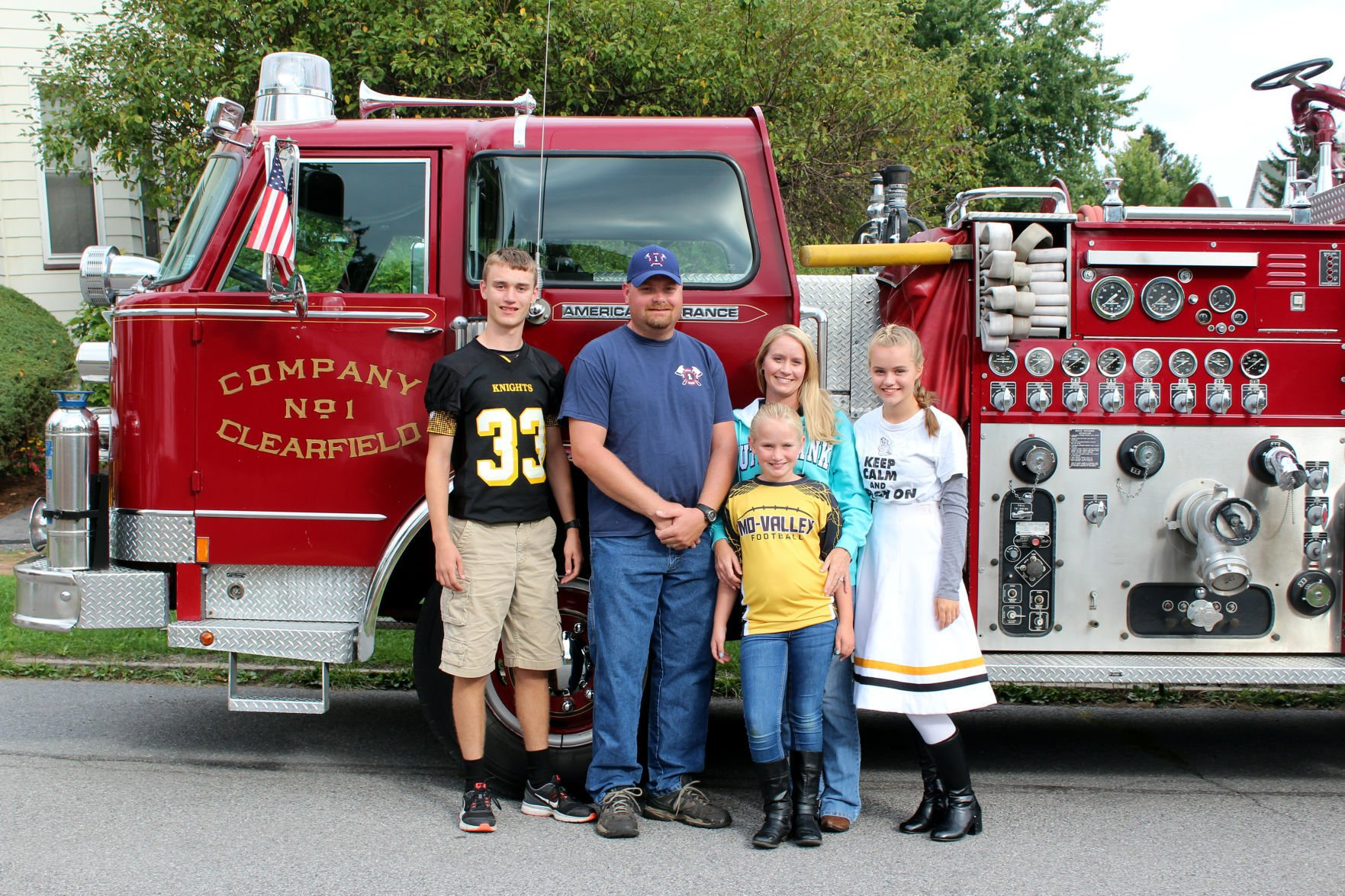 The Ondos Have Had Plenty Of Fun After Purchasing An Actual Fire Truck In  May 2015. Pictured Here From Left To Right Are Steven Kiner, Jason Ondo,  Crystal ...
