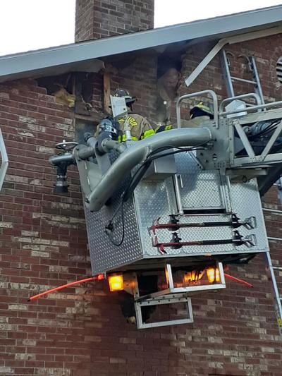 Flue fire damages Rush Township home