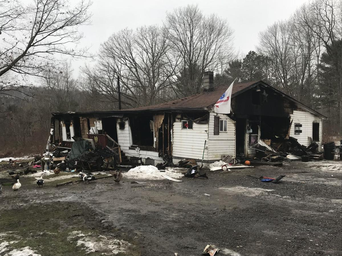 Knox Twp. fire destroys home