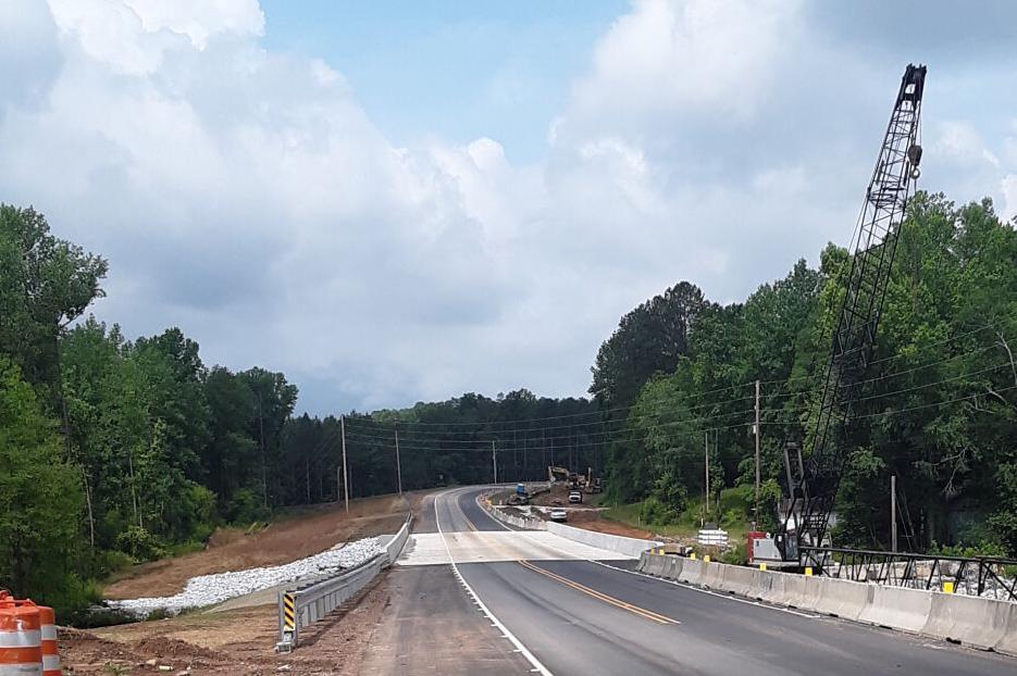 New bridge over Fox Creek complete