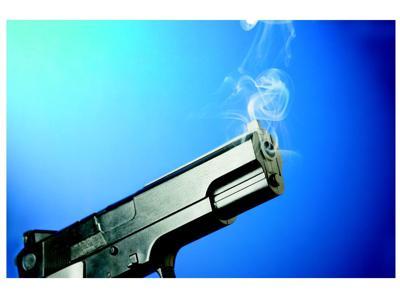 Stock photo - smoking gun