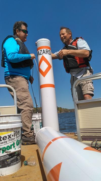 Hazard buoy on Lake Wedowee