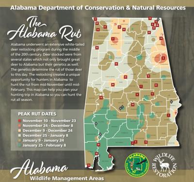 2019 Alabama WFF Deer Rut Map