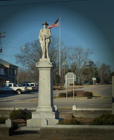 Wedowee war monument