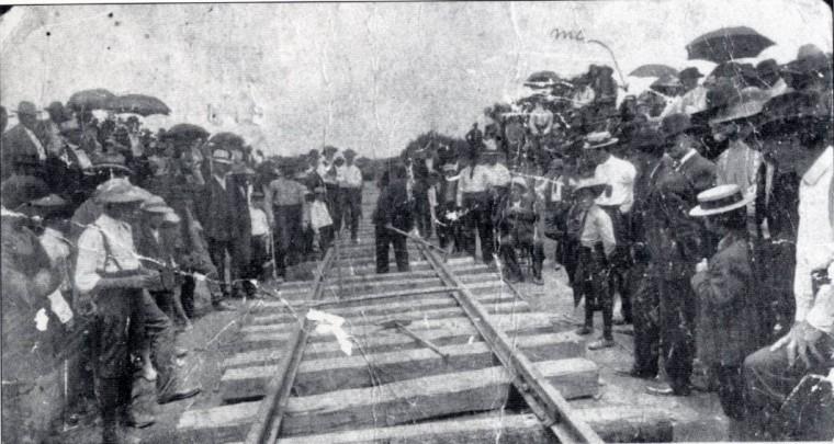 First stake in Roanoke's railroad