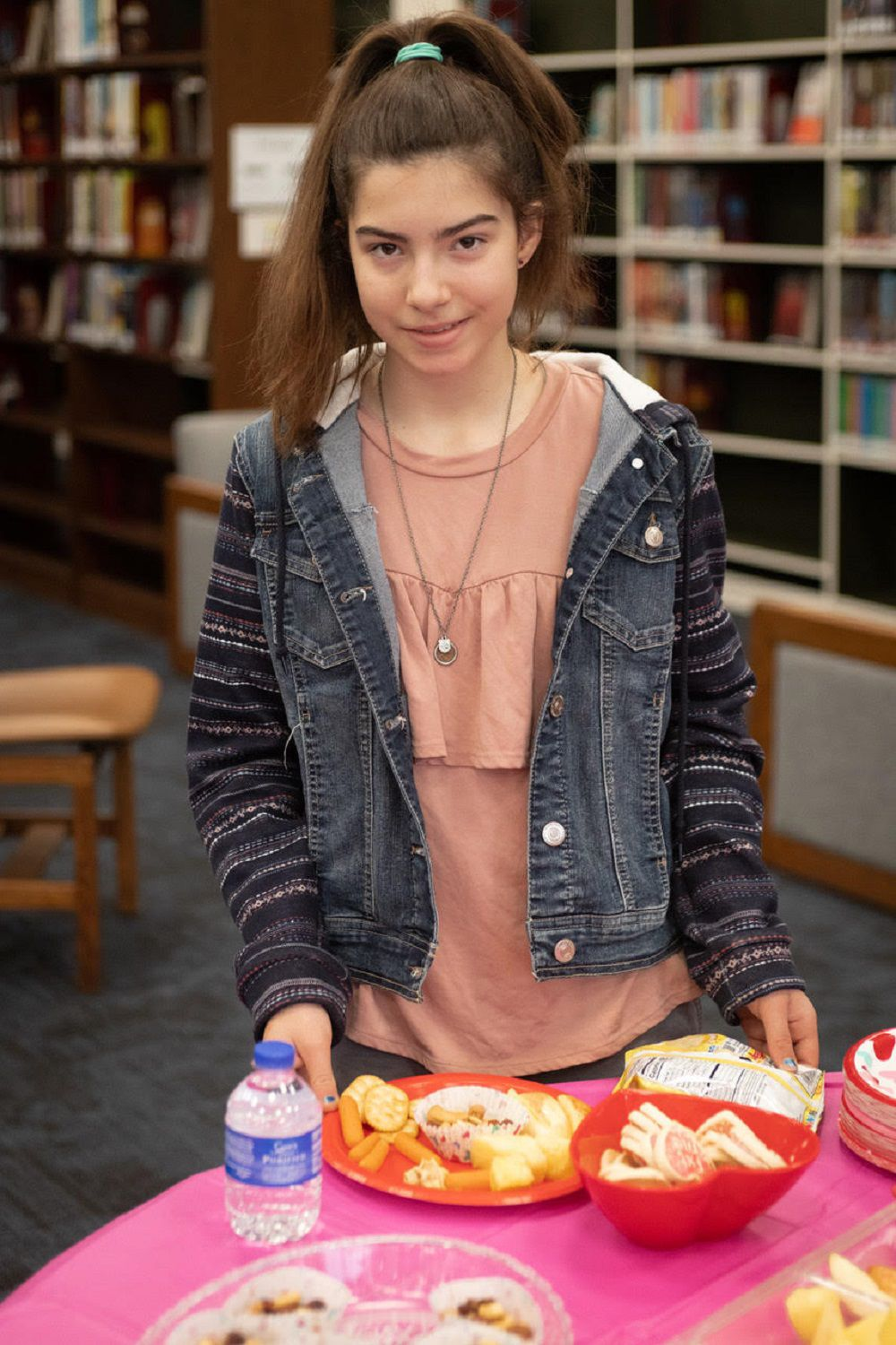 Library lovers 1 girl with plate .jpg