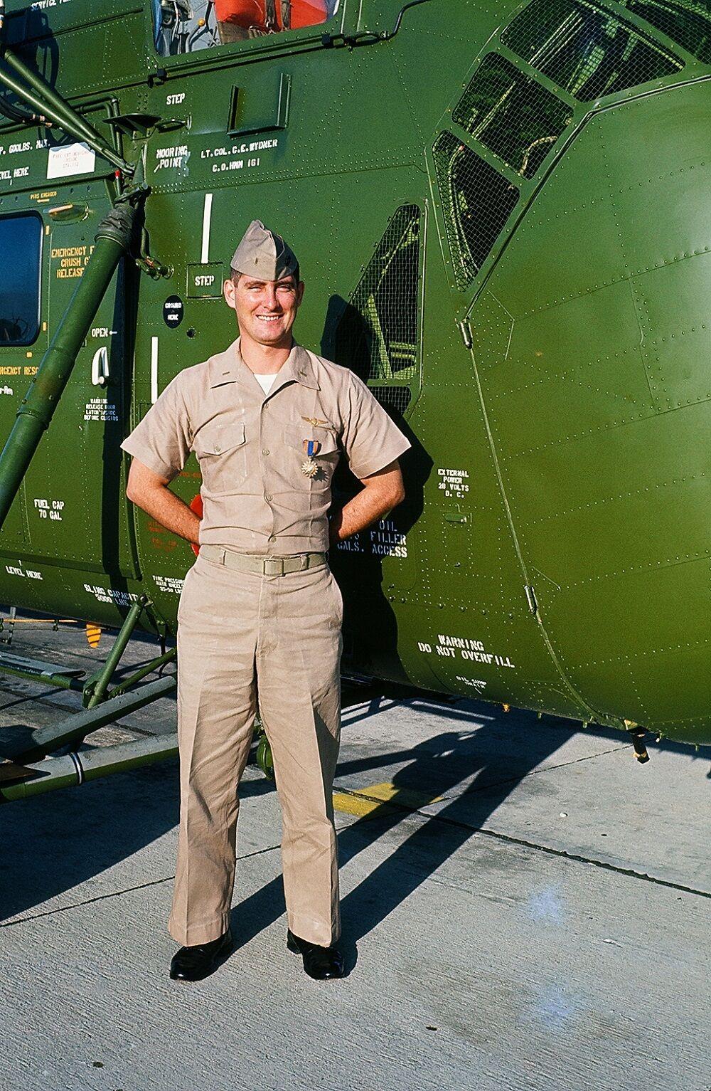 Vietnam vet Collier 1 with air medal.jpg