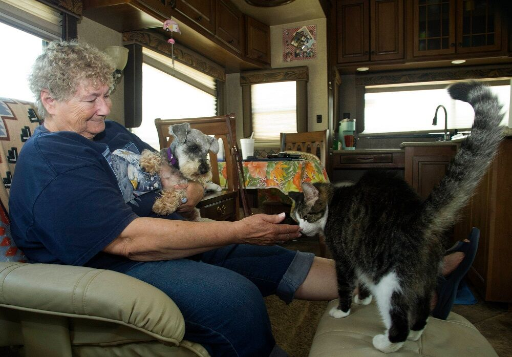RV park 2 lady with pets.jpg