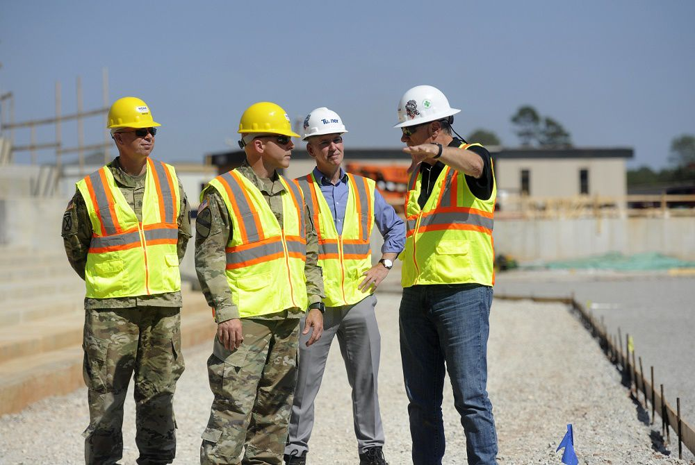 Garrison command gets owner's tour of new stadium