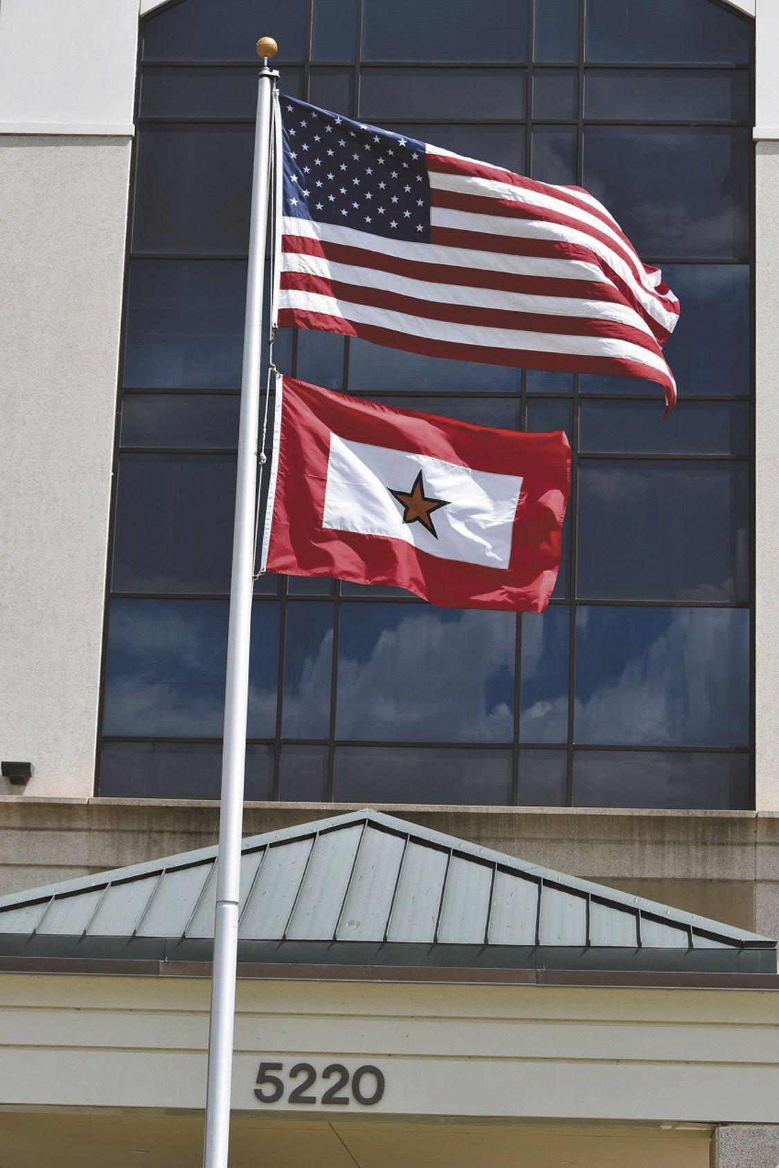 Gold Star flag 2 on pole.jpg