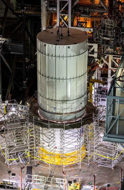 VAB Imagery of Test Articles - Orion Mass Simulator