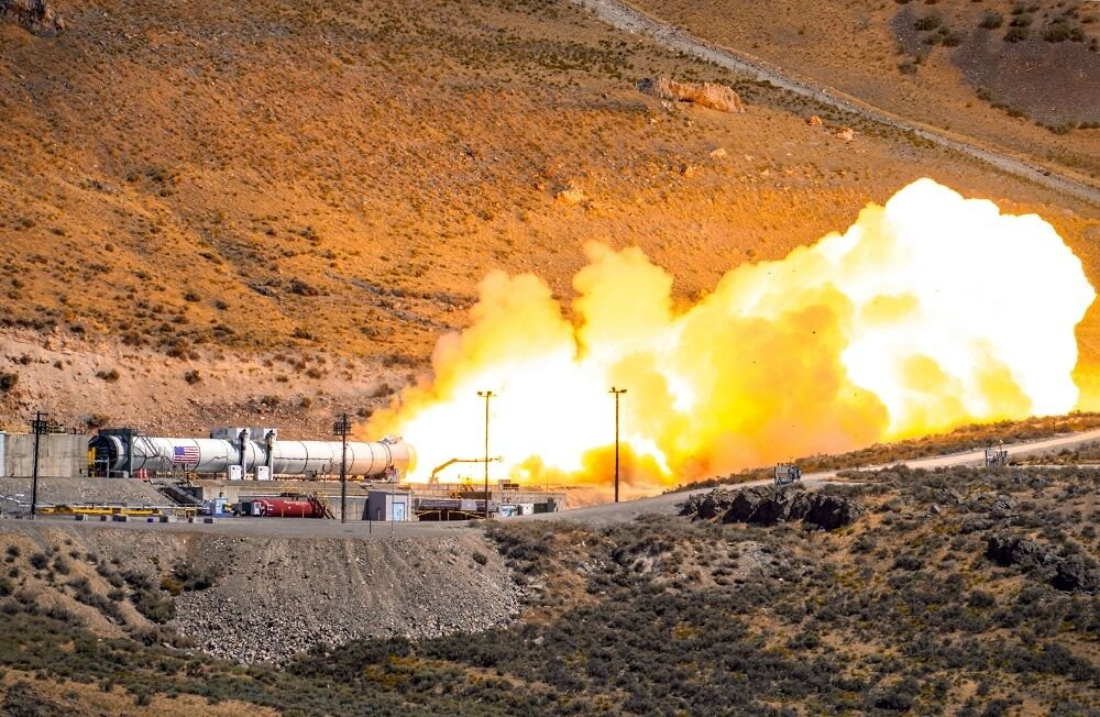 NASA conducts booster test for future Artemis missions