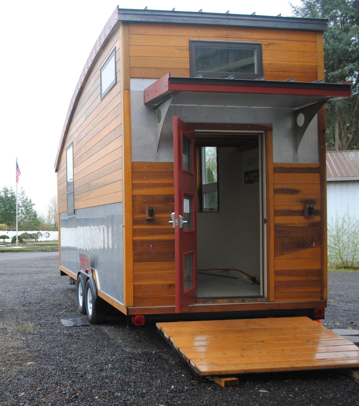 tiny house expo. local tiny house builder patrick sughrue, whose work is seen here, will be one of the several presenters at living expo that come to