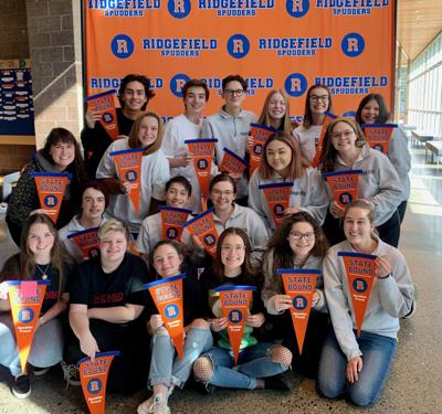 Ridgefield High School Thespians awarded bronze level honors in state competition