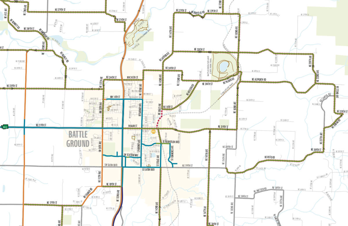 Clark County Map on