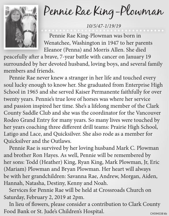 Pennie Rae King-Plowman