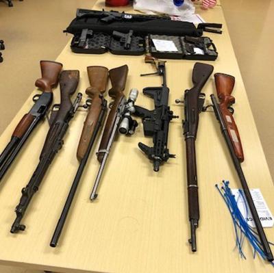 Seized firearms