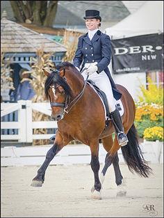Jessica riding Cardi