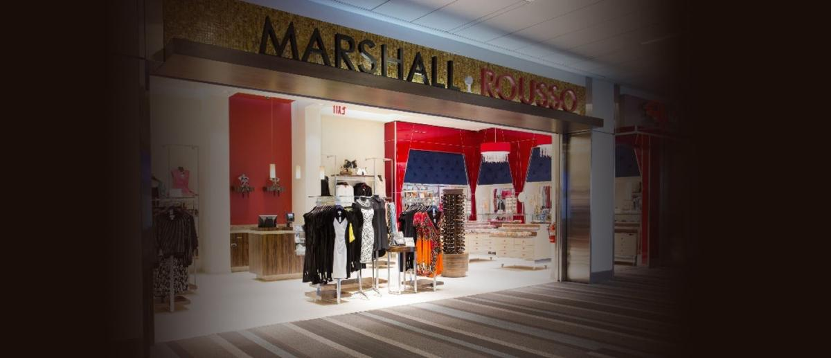 A Concept Art Look At Marshall Rousso Inside Of Ilani The Retail Outlet Will Offer Dramatic Evening Wear Hip Casual Clothing Accessories Handbags And