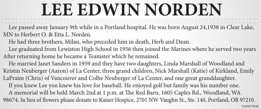 Lee Edwin Norden