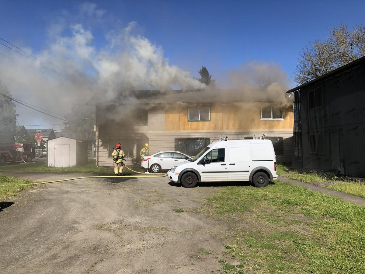 Woodland apartment fire sets of ammo