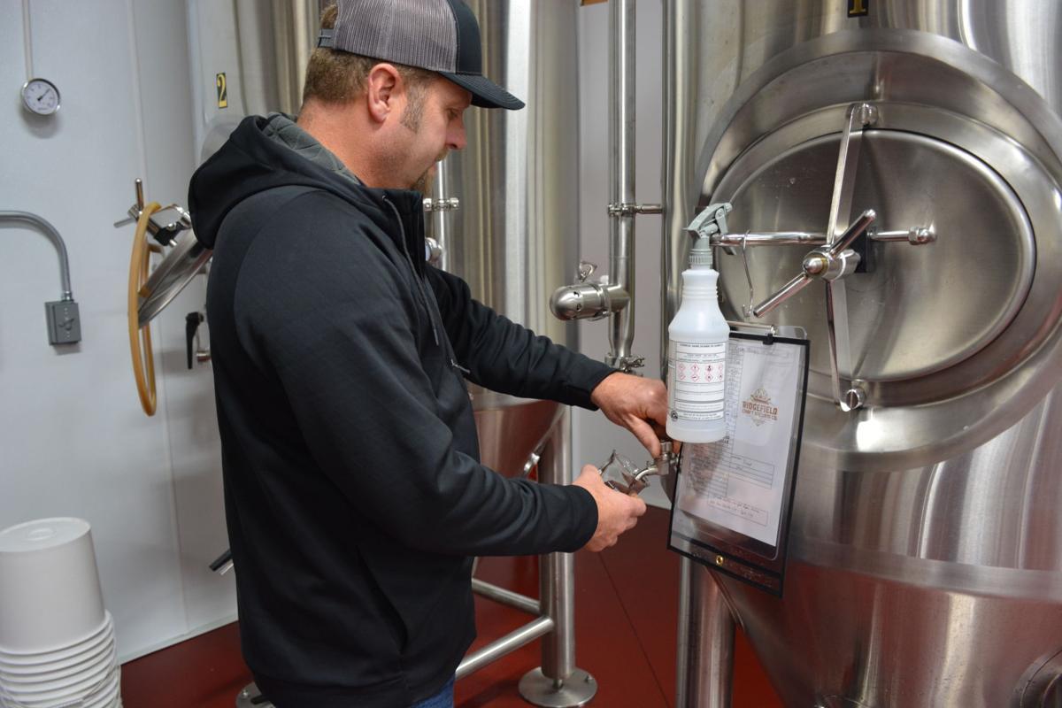 Ridgefield Brewing testing beer