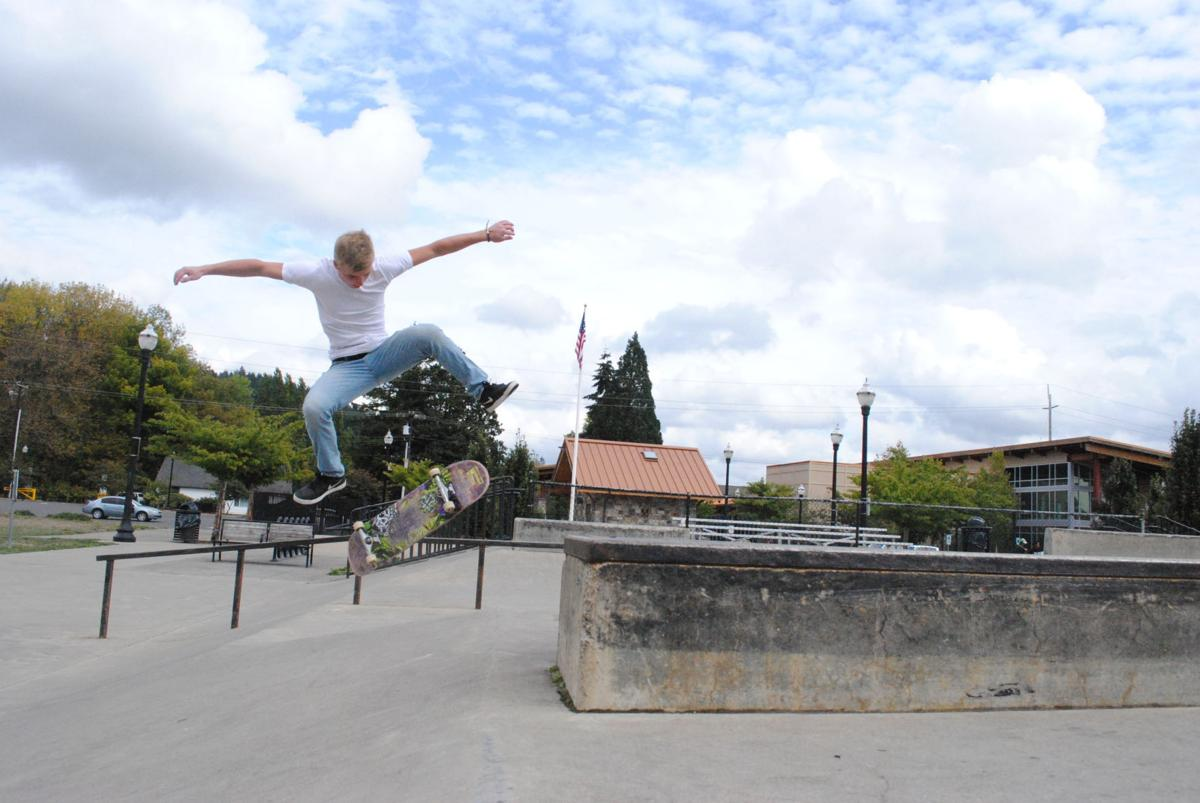 Skateboarders soak up sunshine