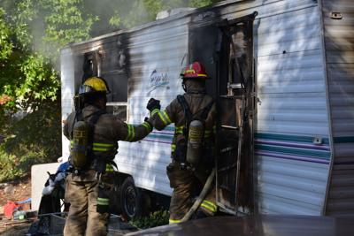 Burnt trailer