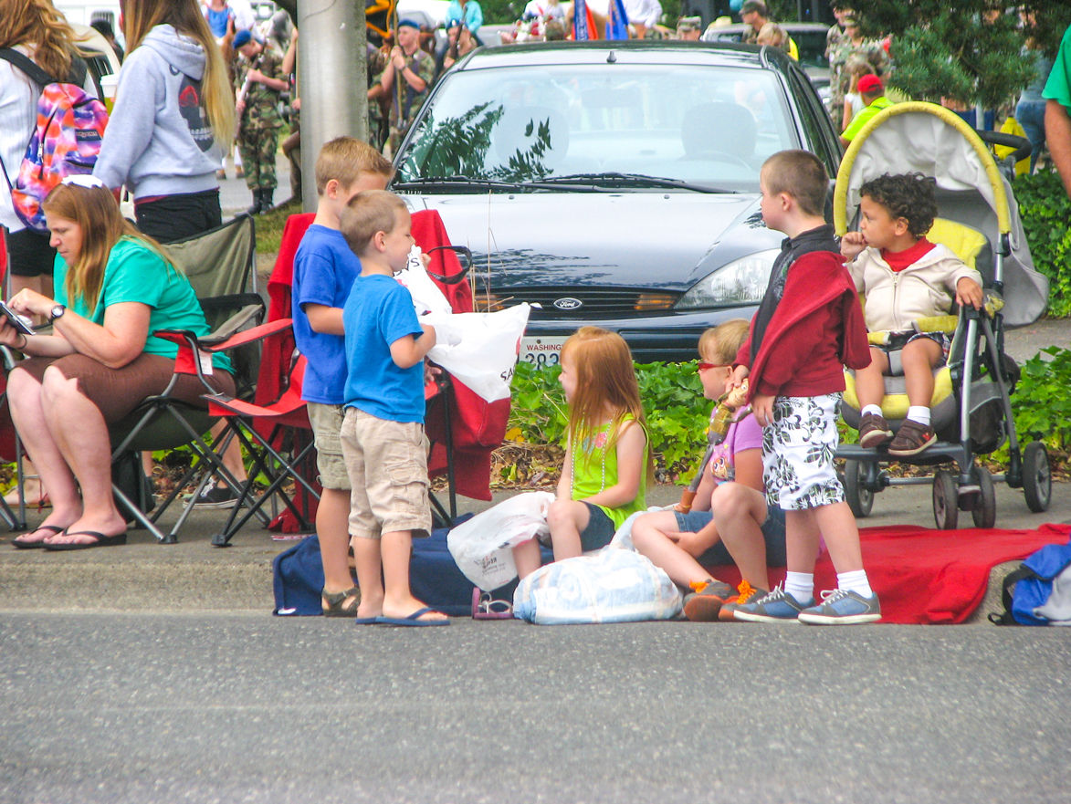 THE ANNUAL HARVEST Days Parade brings hundreds of spectators to line Main Street to catch a glimpse of their favorite float or to gather some candy that is often passed out to children in the crowd.