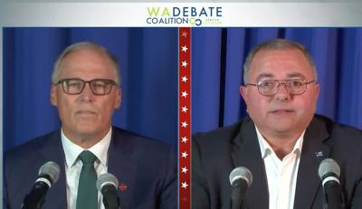 Inslee and Culp Spar Over Pandemic Response, Systemic Racism, Climate Change and Policing